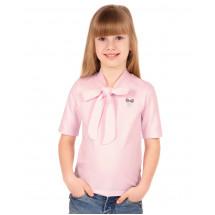 """Блузка для девочки розового цвета с коротким рукавом """"Полина"""""""