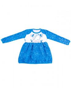 """Платье для малышек с длинными рукавами """"Бирюзовое небо"""""""