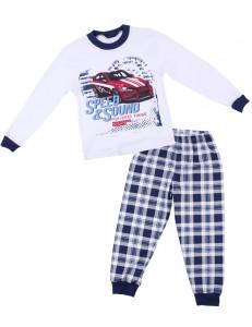 """Пижама для мальчиков белого цвета """"красное авто"""""""