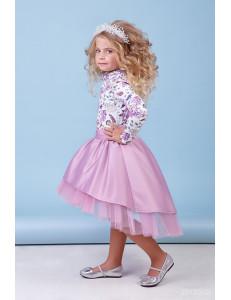 """Комплект нарядный для девочек лилового цвета """"Кокетка"""""""